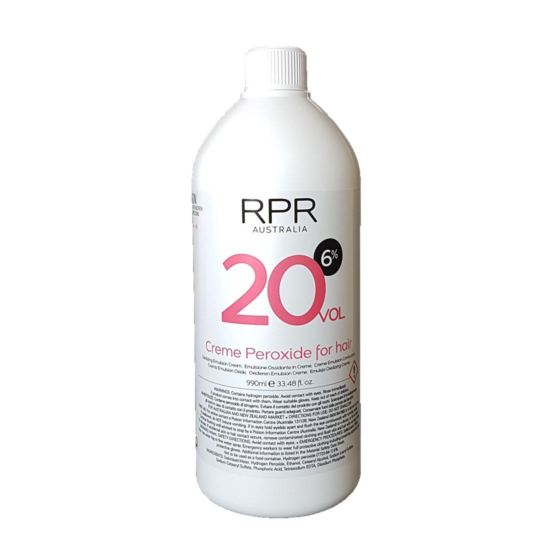 rpr colouru peroxide 20vol for hairdressers