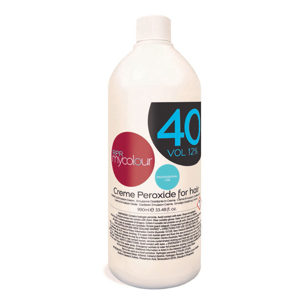 rpr mycolour peroxide 40vol for hairdressers