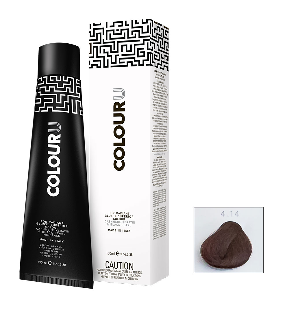 colouru hair colour 100ml shade 4.14