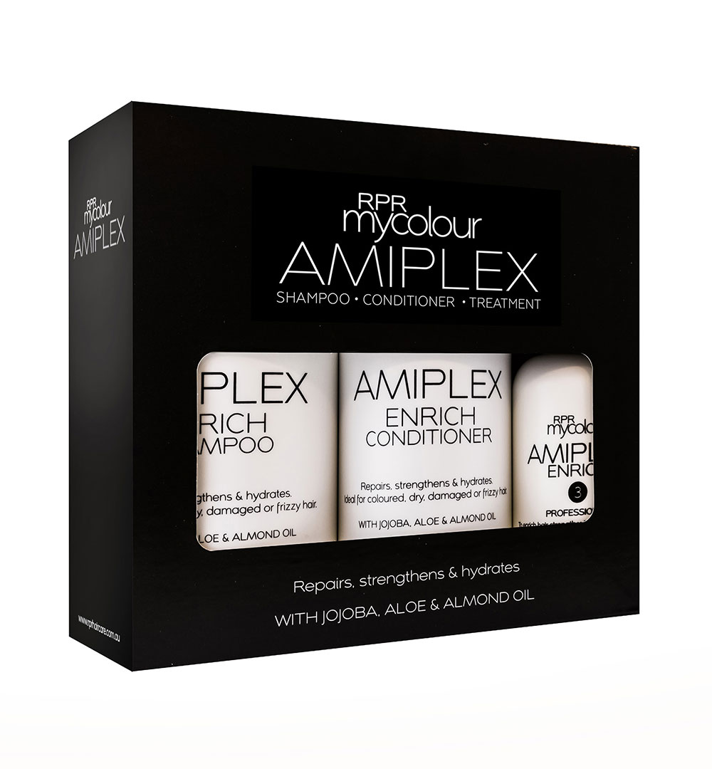 rpr amiplex enrich pack shampoo conditioner and treatment
