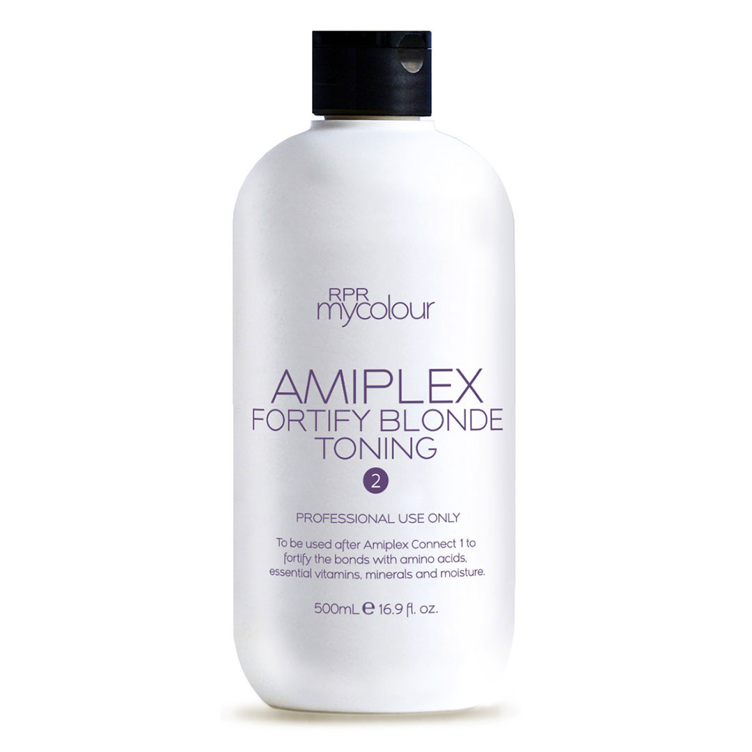 rpr amiplex stage 2 blonde toning fortify treatment 500ml for hairdressers