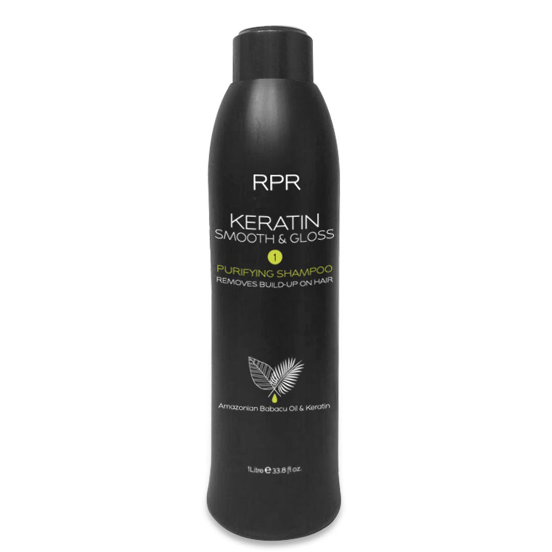 rpr keratin smooth and gloss shampoo 1 litre for hairdressers