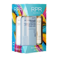 rpr my thicker fuller stronger quad pack with a shampoo conditioner and treatment