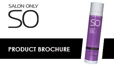 salon only product range information brochure