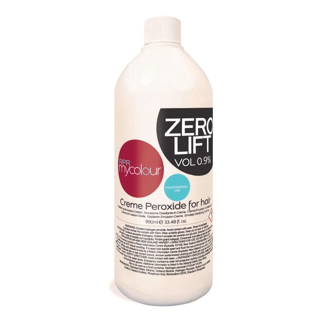 mycolour peroxide zero lift 0vol for hairdressers