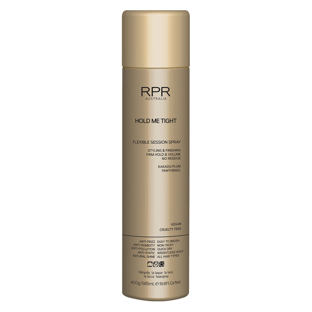 rpr hold me tight session spray 400g in gold tin