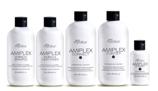 5 bottles of amiplex hair care products